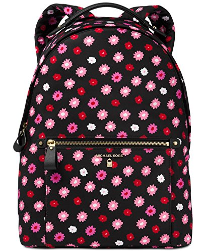 MICHAEL Michael Kors Kelsey Large Nylon Backpack (Black/Ultra Pink) by Michael Kors