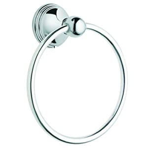 Moen DN8486CH Preston Bathroom Towel Ring, Chrome