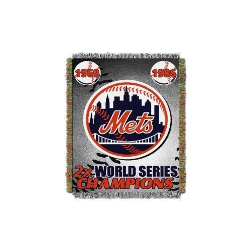 Commemorative Woven Mlb Tapestry Throw (MLB New York Mets Commemorative Woven Tapestry Throw, 48
