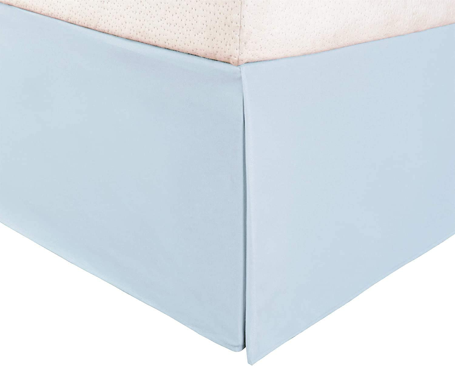 Hotel Luxury 1-PC Split Corner Tailored Bed Skirt (Pattern : Solid) 550-TC Egyptian Cotton with 15