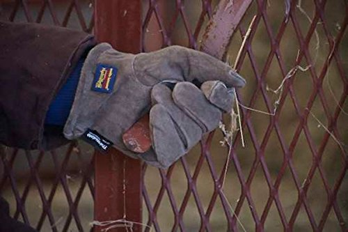 Wells Lamont 1196L Water Resistant Very Warm 100 g Thinsulate, Hydra Hyde, Men's Winter Work Gloves, Large, Saddletan by Wells Lamont (Image #4)