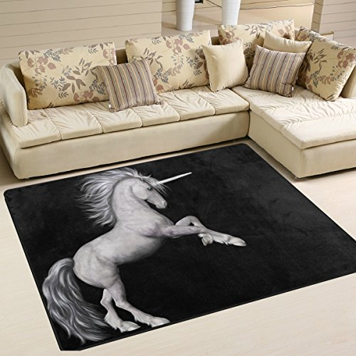 The Fifth Element Costume Design (Unicorn Area Rug Carpet Floor Mat For Dining Room Living Room Bedroom, 7'x5' and 5'3