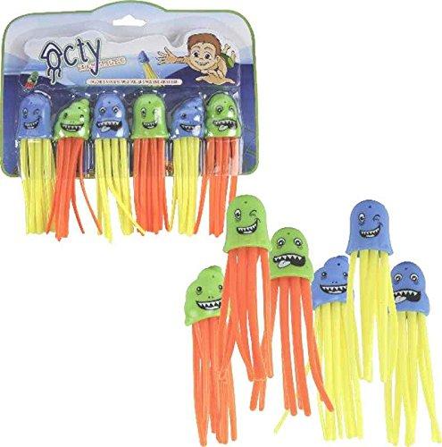 Tauch Spielzeug Octy 6er Set - Octopus Spielfigur, Tauchring, Pool Spielzeug, Mitgebsel itsisa