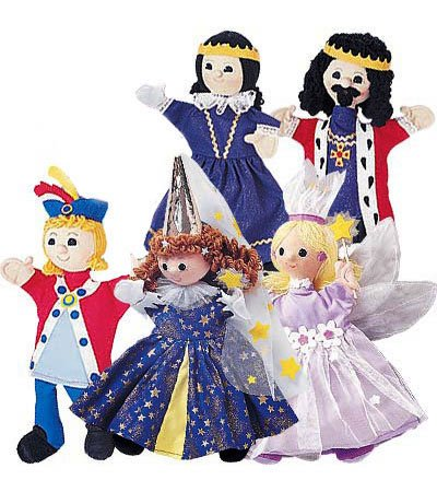 Royal Family Costumed Puppets Special, Set of (Robin Hood Family Costumes)