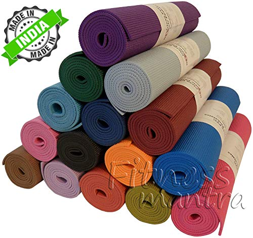 Fitness Mantra Yoga Mat for Yoga Exercise and Gym Workout. 6MM Yoga Mat for Men & Women Fitness [Multicolor][1 Pcs.][6mm]