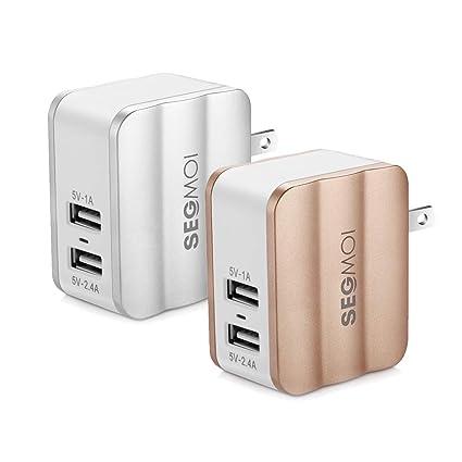 Amazon.com: Cargador de pared USB de doble puerto, SEGMOI 5 ...
