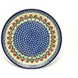 "Polish Pottery Plate - 10"" Dinner - Maraschino"