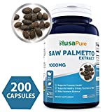 Best Saw Palmetto Extract 1000mg per Caps 200 Capsules (NON-GMO & Gluten Free) – Healthy Urination Frequency & Flow Formula – May Help Block DHT – Made in USA – 100% MONEY BACK GUARANTEE!