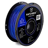 HATCHBOX 3D TPU-1KG1.75-BLU TPU 3D Printer Filament, Dimensional Accuracy +/- 0.05 mm, 1 kg Spool, 1.75 mm, Shore 95A, Blue HATCHBOX Supplies