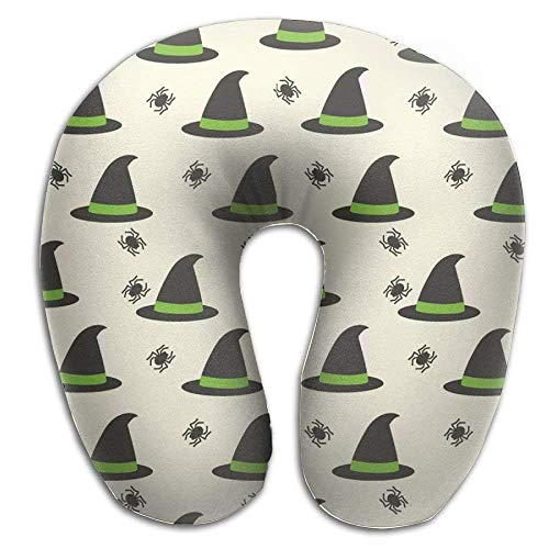 (Ciuaole Memory Foam Neck Pillow,Witch's Hat Travel U-Shaped Pillow)