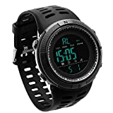 JOYSAE Sport Wrist Watch,Men's Fashion Watches Outdoor Electronic Water Resistant Watch Black