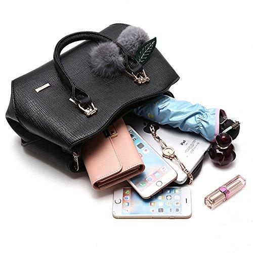 MIMI KING Geldbörsen-Schulter-Kurier-Handtaschen-PU-Leder-Große Kapazitäts-Schulter-Taschen-Beutel Der Art- Und Weisefrauen Purple