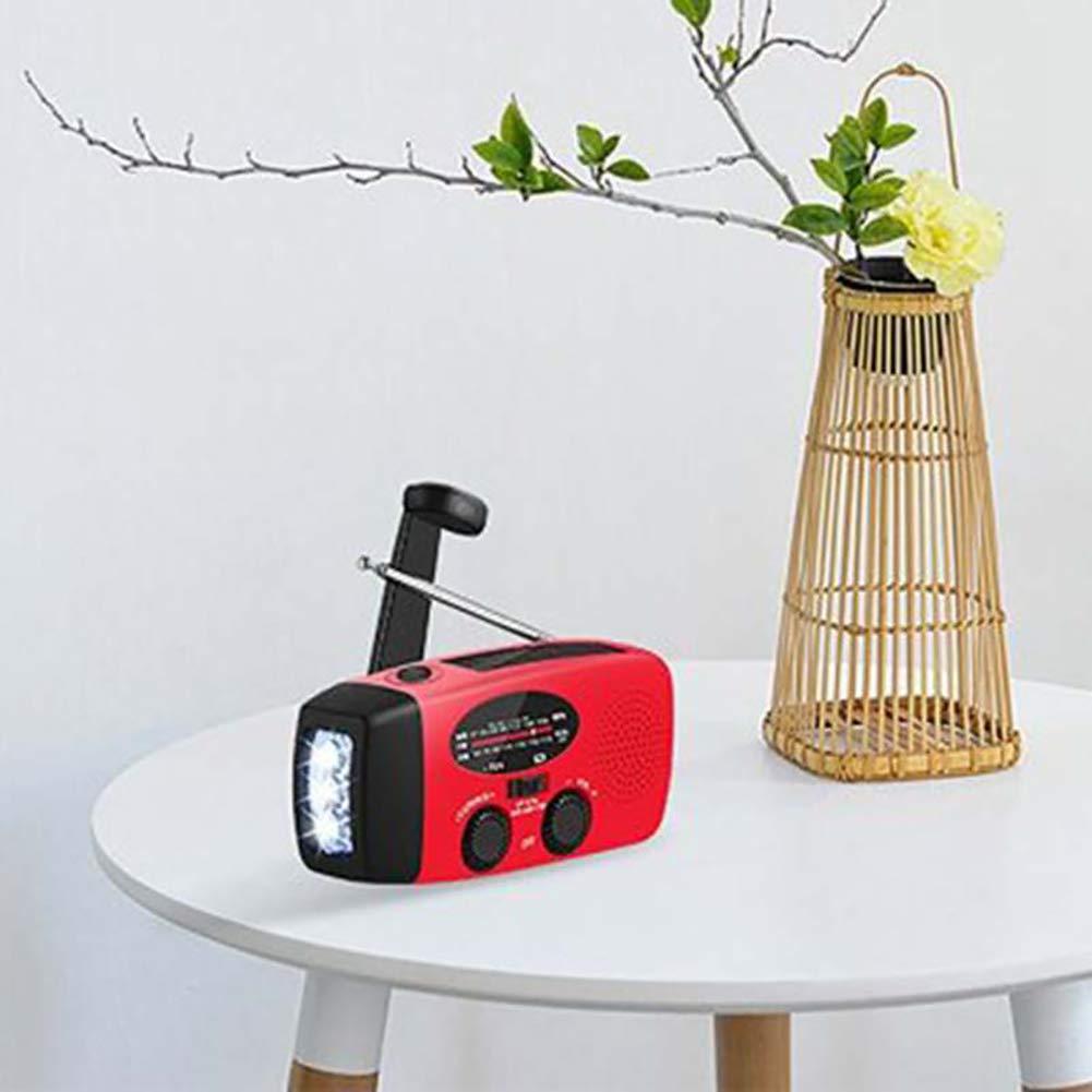 Comtervi Solar Radio mit Handkurbel Kurbeldynamo LED Taschenlampe Notfall Ernstfall Powerbank USB Handy Ladeger/ät Kurbelradio FM//AM Notfallradio f/ür Wandern Camping Outdoor