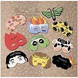 Set of 10 Passover Plague Masks