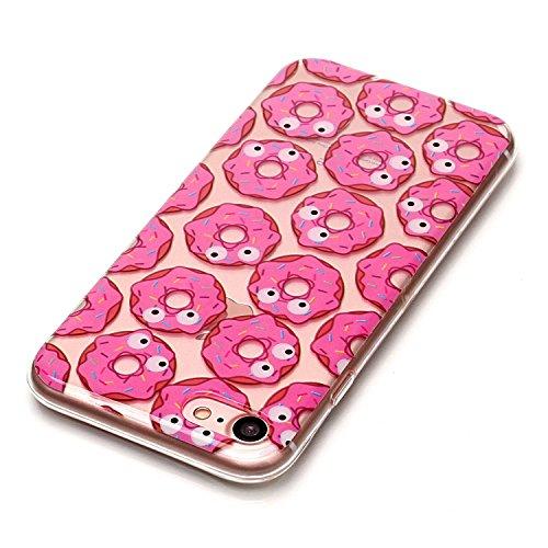 Qiaogle Teléfono Caso - Funda de TPU silicona Carcasa Case Cover para Samsung Galaxy S7 Edge / G9350 (5.5 Pulgadas) - XS43 / Love + Búho XS40 / Donuts