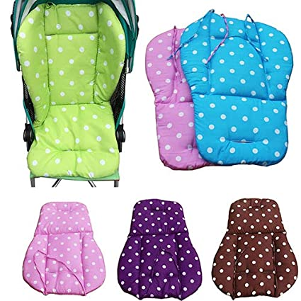 Brussels08 Universal Baby Infant Thick Stroller Seat Cover Pushchair Cushion Mat Baby Stroller Car High Chair Seat Cushion Liner Mat Protector Waterproof Pram Padding Liner Car Seat Pad Blue