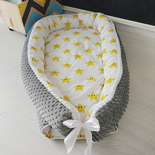 Baby and toddler nest bed, sleeping bed, stars print, babynest, snuggle bed, cosleeper, travel bed, baby bedding, baby shower gift, gift for baby
