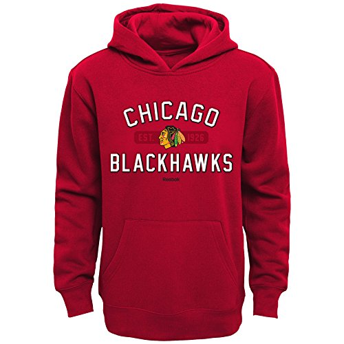 Outerstuff NHL Chicago Blackhawks Boys Kids Todays Highlights Fleece Hoodie, Medium/(5-6), Red