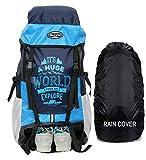 POLESTAR XPLORE 55 ltrs with Rain Cover Rucksack/Hiking/Trekking Backpack Bag 55 ltrs (Sky)