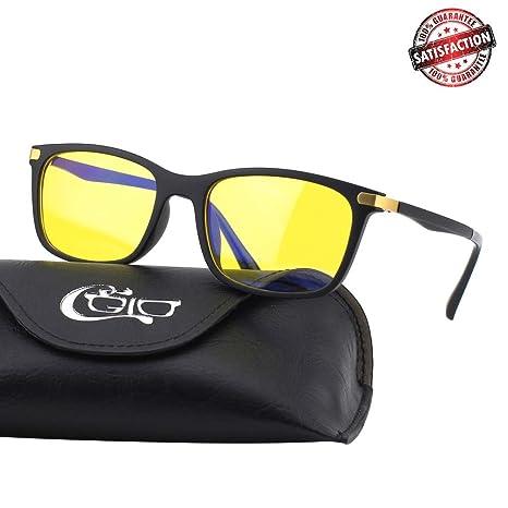 3a80248e97 Amazon.com  CGID CY46 Premium TR90 Frame Blue Light Blocking Glasses ...