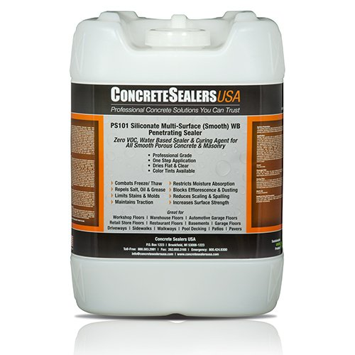 PS101 Siliconate Multi-Surface (Smooth) WB Penetrating Sealer (5 gal.) by Concrete Sealers USA