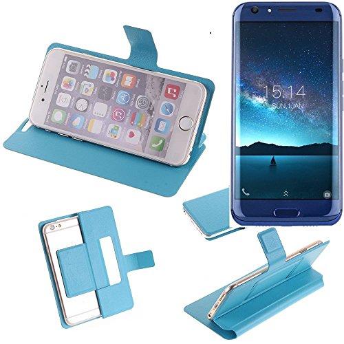 Caso de protección cubierta del tirón para Doogee BL5000, azul claro | estilo del libro cartera cubierta delgada - K-S-Trade (TM)