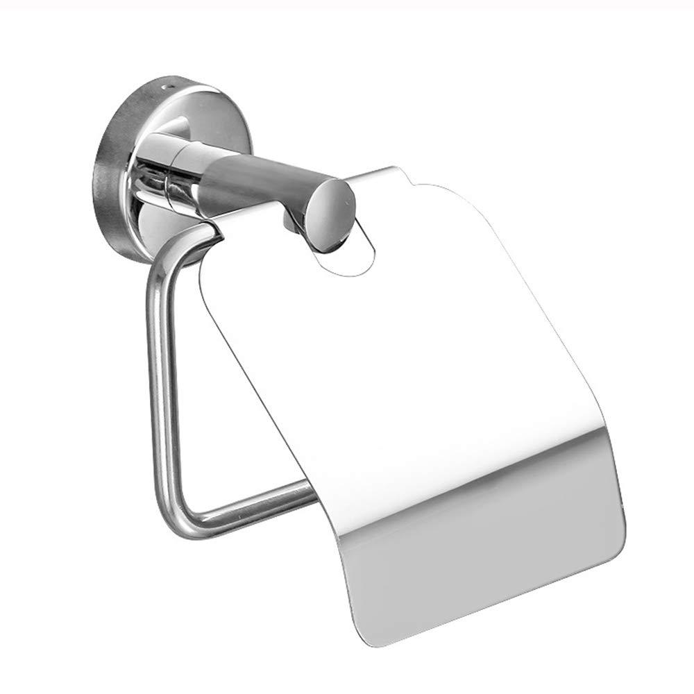 Toilet Roll Holder, Durable Non-Slip, Not Easy to Rust Roll Holder, Side Open Cover Punch-Free Stainless Steel Toilet Paper Holder