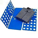 Funwill Convenient Adjustable Lazy Folding Board, Clothes T-Shirts Flip Fold (Blue)