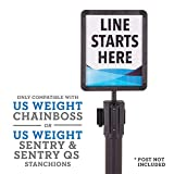 US Weight - U2513 Plastic Stanchion Sign Holder