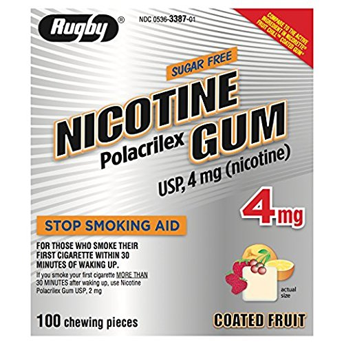 PACK OF 3 EACH NICOTINE GUM 4MG REFILL RUGB 100EA PT#536311301