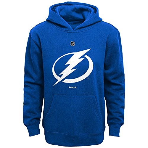 OuterStuff NHL Tampa Bay Lightning Boys 8-20 Primary Logo Fleece Hoodie, Royal, Large - Lightning Fleece Hoodie