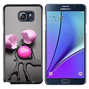 "Be-Star Único Patrón Plástico Duro Fundas Cover Cubre Hard Case Cover Para Samsung Galaxy Note5 / N920 ( Rosa abstracto Huevo"" )"