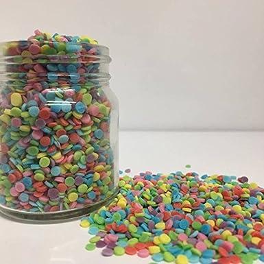 3mm Matt Rainbow Confetti / Funfetti Cupcake / Cake Decorations Sprinkles  (Can be baked!!) (100g)