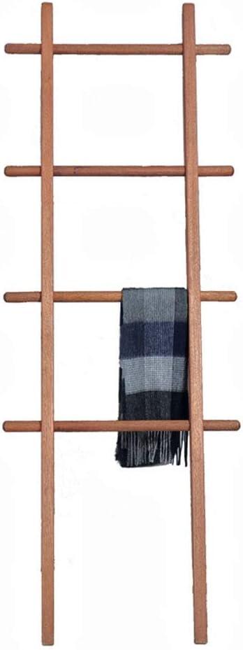 WYQSZ Perchero de Madera De Madera, Perchero de bambú de Escalera nórdica de Piso, Perchero de baño de Dormitorio Minimalista Creativo: Amazon.es: Hogar