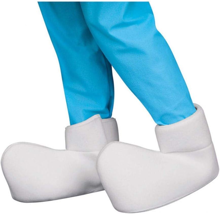 Pitufo Zapatos überzieher One Size Blanco | para Pitufo Disfraz En ...