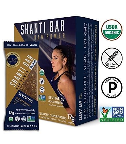 Shant Bar Goldenberry Protein Bar, 12 Count