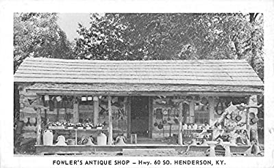 Henderson Kentucky Fowlers Antique Shop Street View Antique Postcard K43312