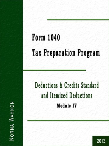 Form 1040 -  Tax Preparation Program: Module IV:  Treatment of Income and Assets: Retirement Income and Property, Real and Personal (Individual Income Tax Preparation Course - Module - 4 Tax