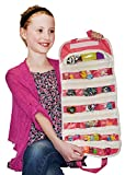 Hatchimals Egg CollEGGtibles Compatible EASYVIEW Toy Storage Organizer Case (Pink)