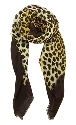 Blue Pacific Animal Print Dip Cashmere and Silk Scarf in - Animals Small Dips