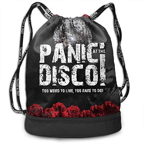 Panic At The Disco Sackpack Gym Sack Drawstring Backpack Rucksack Shoulder -