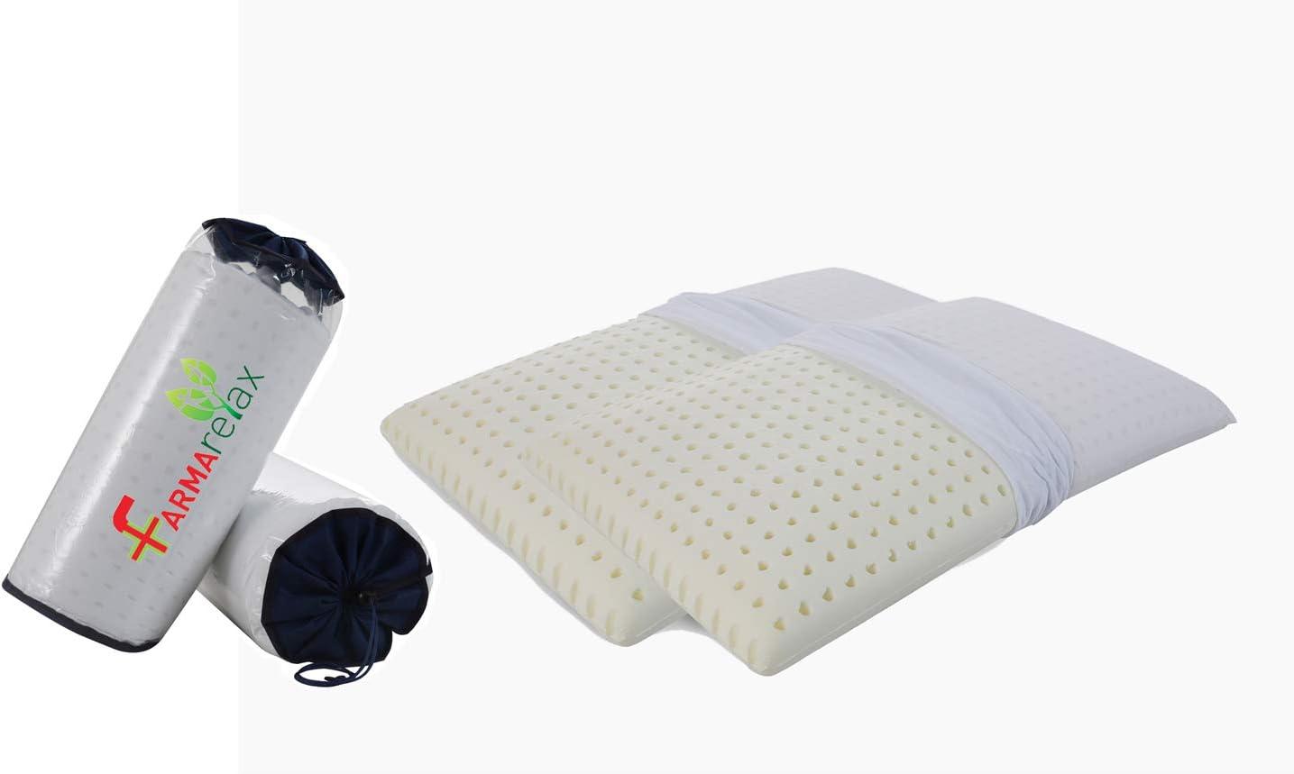Cuscino Doppia onda,100/%memory foam ortpedico fodera con zip in cotone BIO cervicale Fori anti umidit/à mal di collo fresco h12cm DISPOSITIVO MEDICO CE,43x60cm Farmarelax