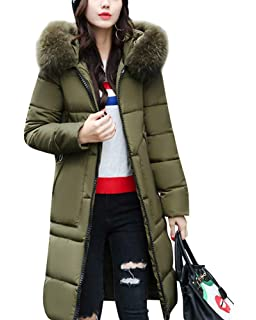 Saoye Fashion Trench Femme Chaud Hiver Doudoune Manteau Unicolore Manches  Longues Poches Avant… 52b400ccfd7