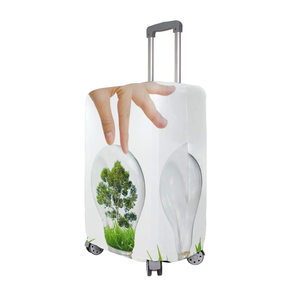 Environmental Protection Ecology Light Bulb Grass Tree Creative Design suitcase cover elastic suitcase cover zipper luggage case removable cleaning suitable for 29-32 trunk cover