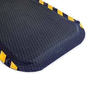 "Andersen Hog Heaven Anti-Fatigue Mat - Custom-Cut Size - -5/8"" Thick - 4'W - Black Border - 16"