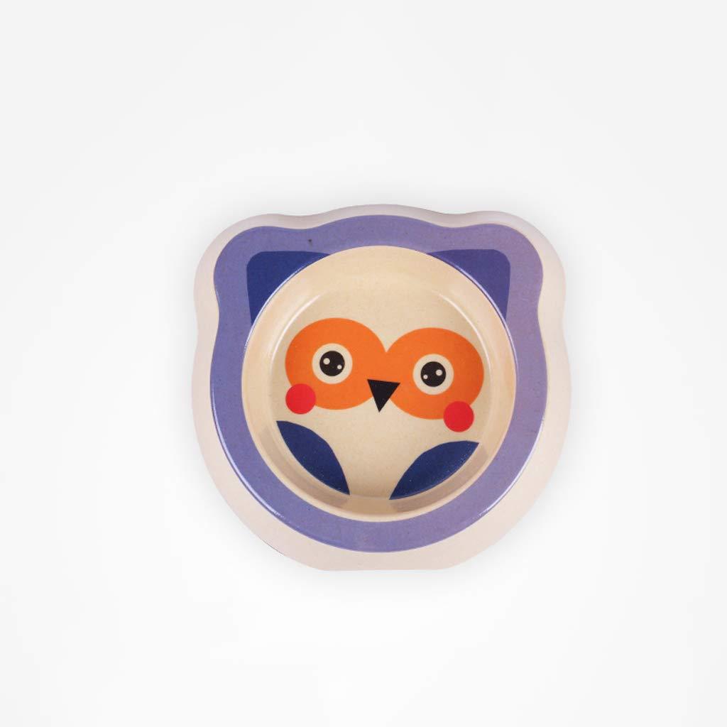 CXQ Small Dog Cat Food Bowl Cute Owl Cartoon Single Bowl Cat Bowl Dog Bowl Creative Pet Supplies