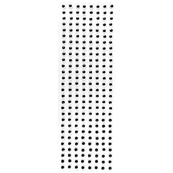 Wackelaugen Selbstklebend 8mm ø Schwarz 670 Stück