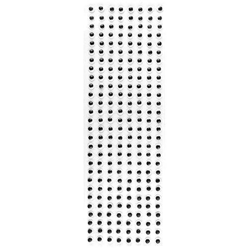 schwarz Basteln mit Kindern Wackelaugen 670 St/ück Dekoration Augen zum Aufkleben f/ür gebastelte Figuren selbstklebend 8mm /Ø Osterhasen DIY Tiere Scrapbooking Schneem/änner