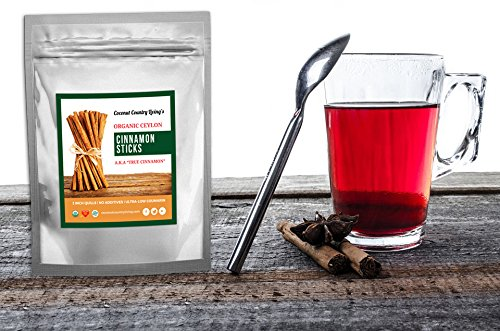 Organic Cinnamon Sticks Ceylon 3.5 oz Fairtrade, Freshly Harvested in Ceylon w/E-BOOK by Coconut Country Living (Image #2)