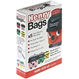 Numatic NVM-1CH Henry Vacuum Cleaner Bags, 5 Pack, White